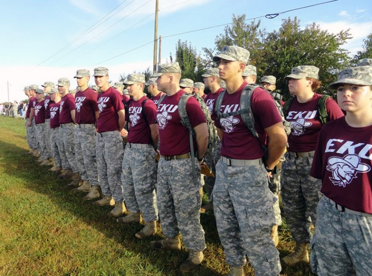 Colonels Cadets prepare to grade the events