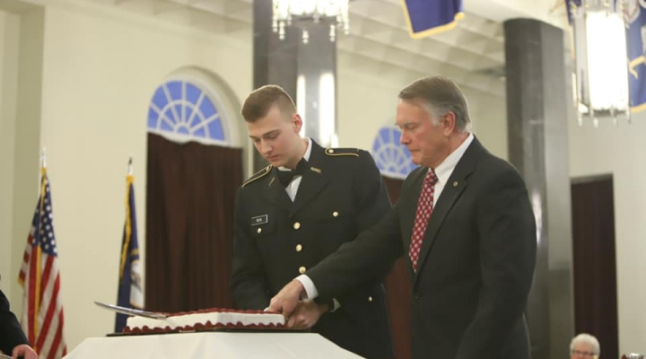 Traditional Cake Cutting-Youngest Cadet-Oldest Alumni