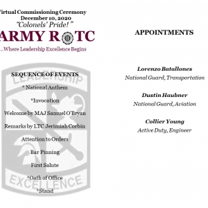 Winter 2020 EKU ROTC Commissioning Ceremony