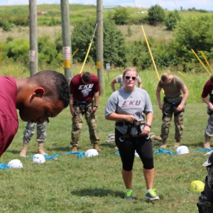 New Cadets 'Jump' Into Colonel's Challenge