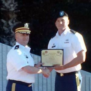 Tyler Fight (r) graduates from EOD