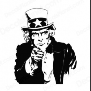 Sketch of 'Uncle Sam' image